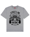 Street Law Print T-Shirt in Gray - T-Shirts - MOBY DICK - BRANMA