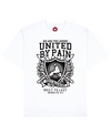 United By Pain Print T-Shirt in White - T-Shirts - MOBY DICK - BRANMA