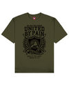 United By Pain Print T-Shirt in Khaki - T-Shirts - MOBY DICK - BRANMA