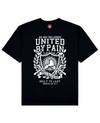 United By Pain Print T-Shirt in Black - T-Shirts - MOBY DICK - BRANMA
