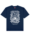 United By Pain Print T-Shirt in Blue - T-Shirts - MOBY DICK - BRANMA