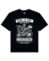 Off Road Print T-Shirt in Black - T-Shirts - MOBY DICK - BRANMA