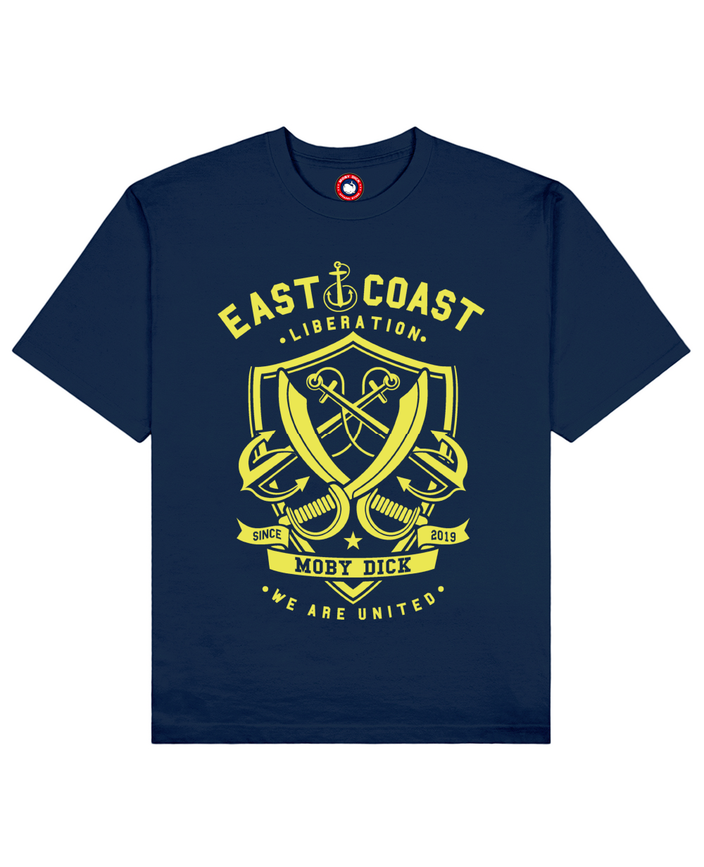East Coast Print T-Shirt in Blue