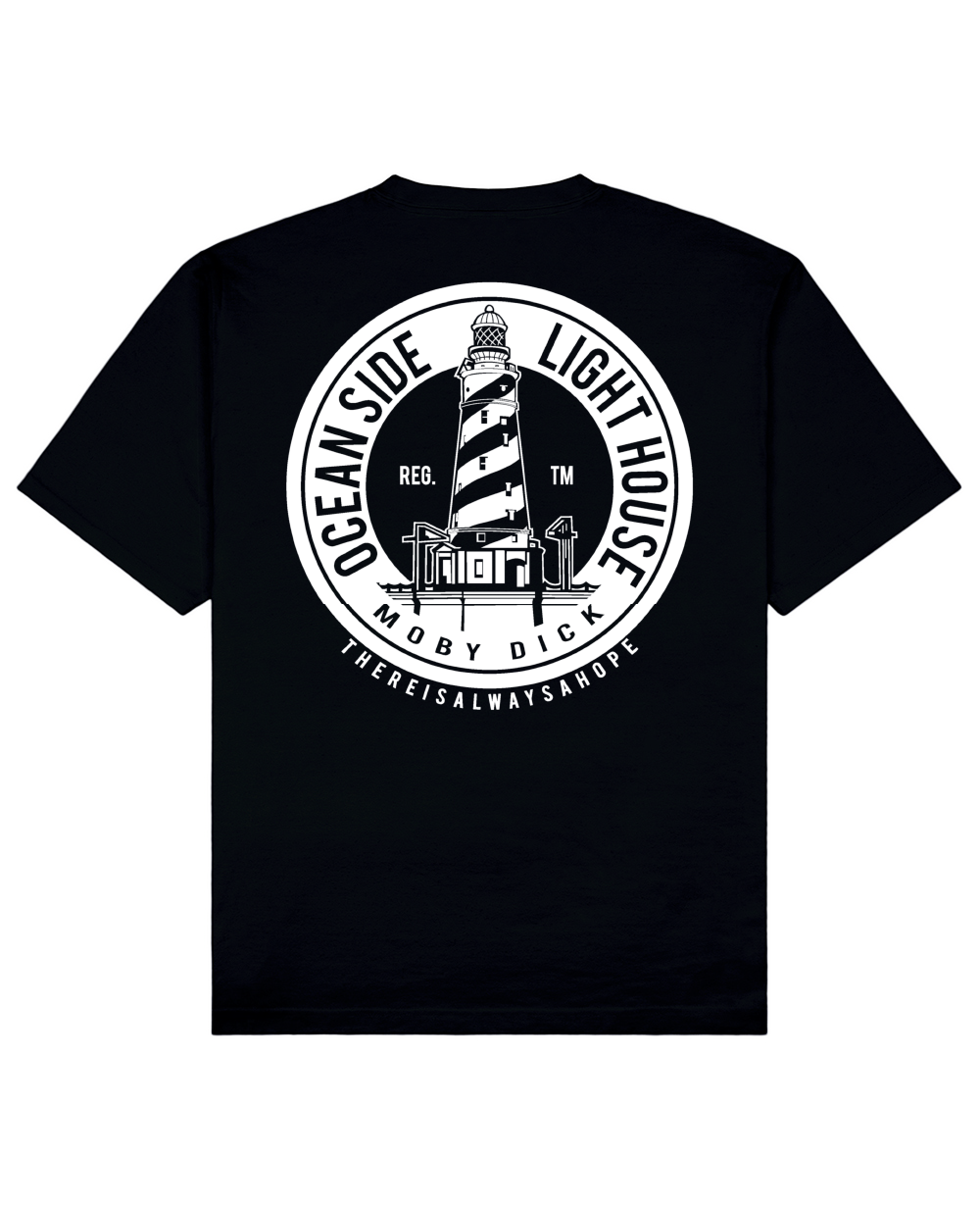 Lighthouse Print T-Shirt in Black