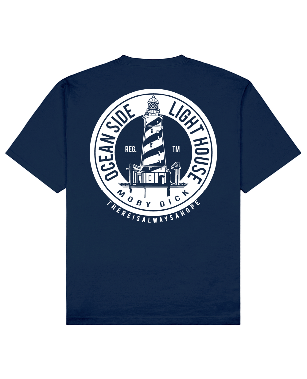 Lighthouse Print T-Shirt in Blue