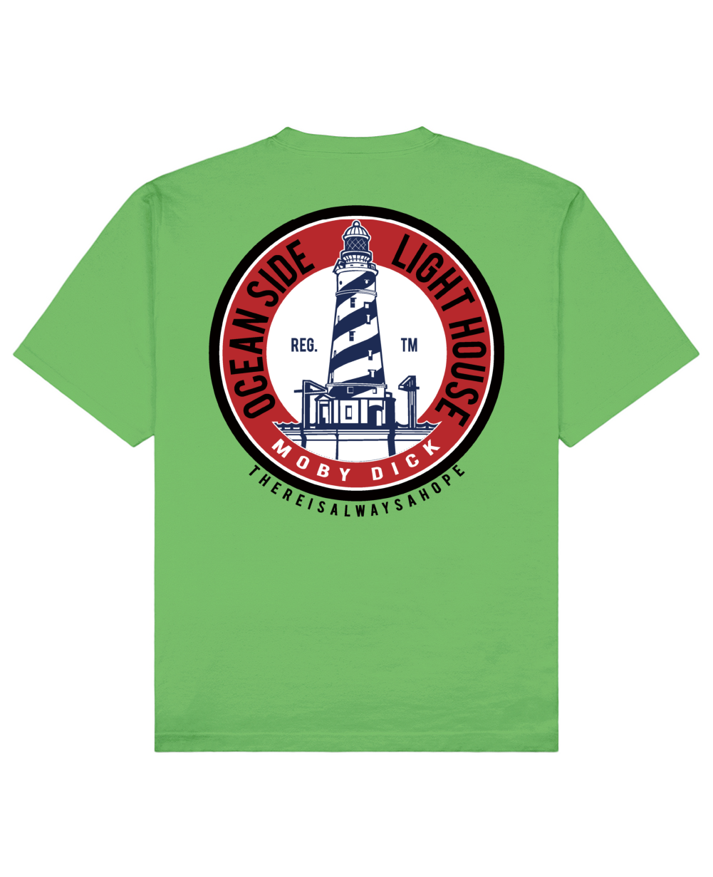 Lighthouse Print T-Shirt in Green