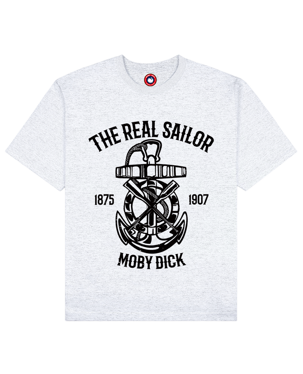 The Real Sailor Print T-Shirt in Light Gray