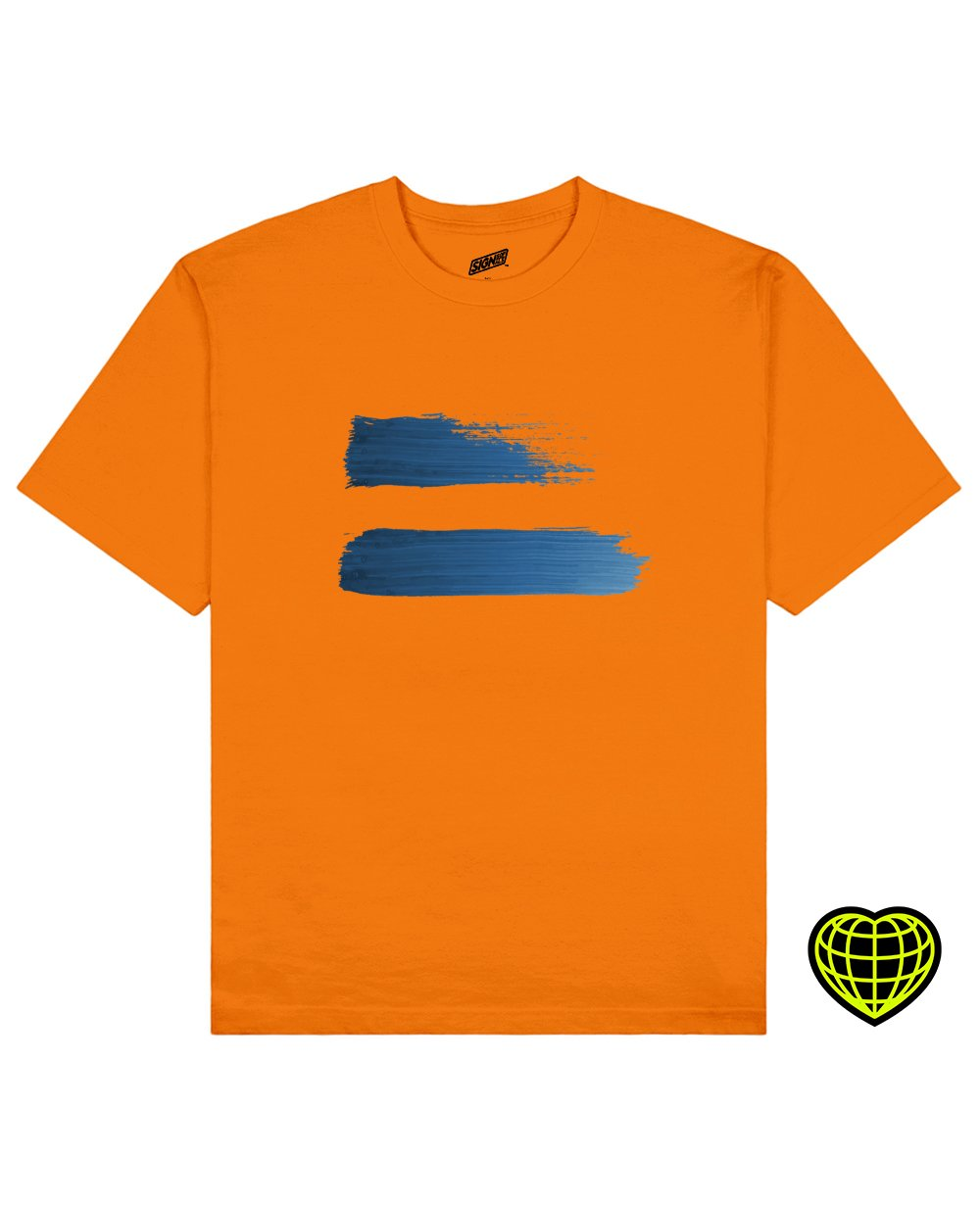 Fading away Print T-shirt in Orange - T-Shirts - Signs of Signals - BRANMA