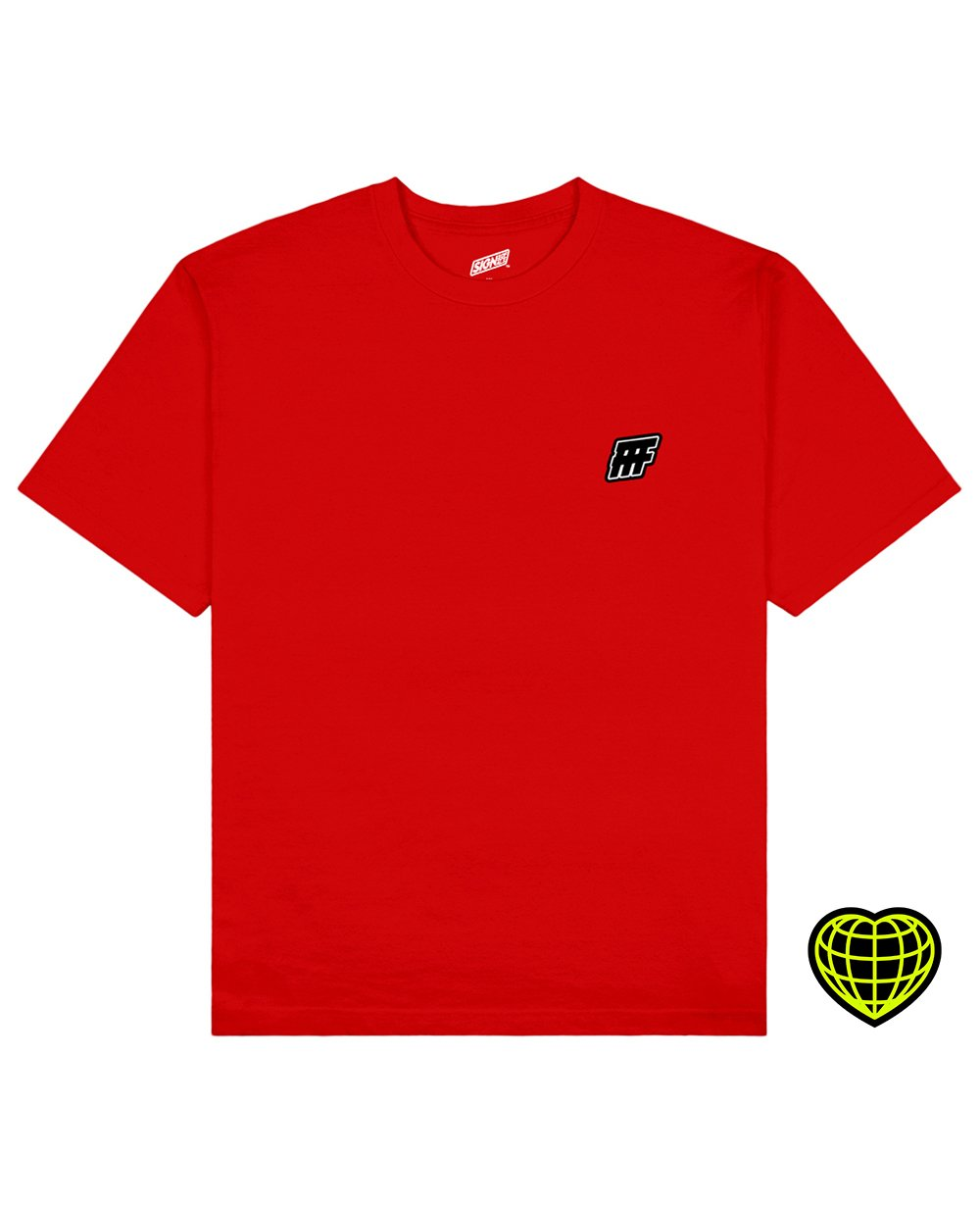 FFF Print T-shirt in Red - T-Shirts - Signs of Signals - BRANMA