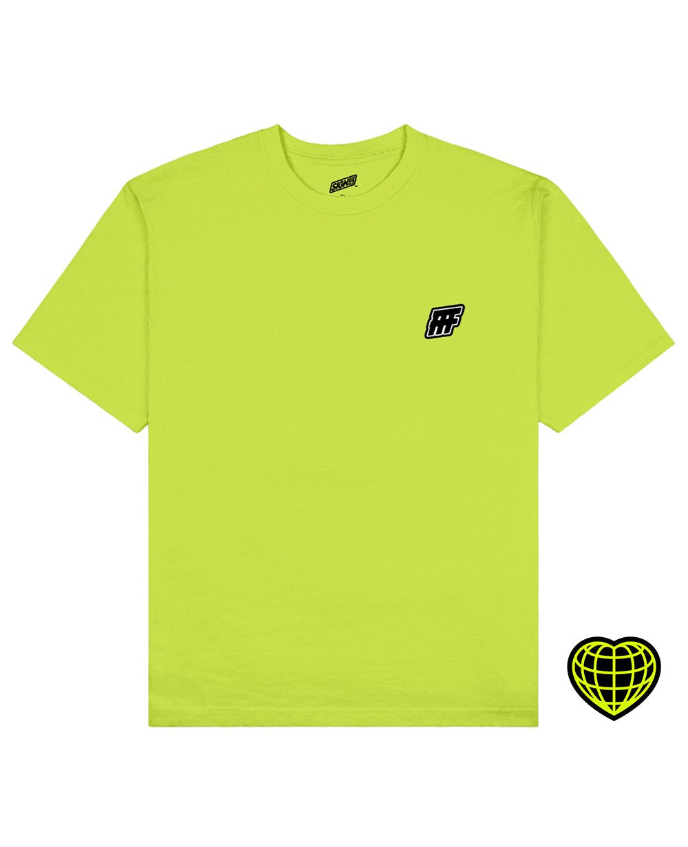 FFF Print T-shirt in Light Green - T-Shirts - Signs of Signals - BRANMA