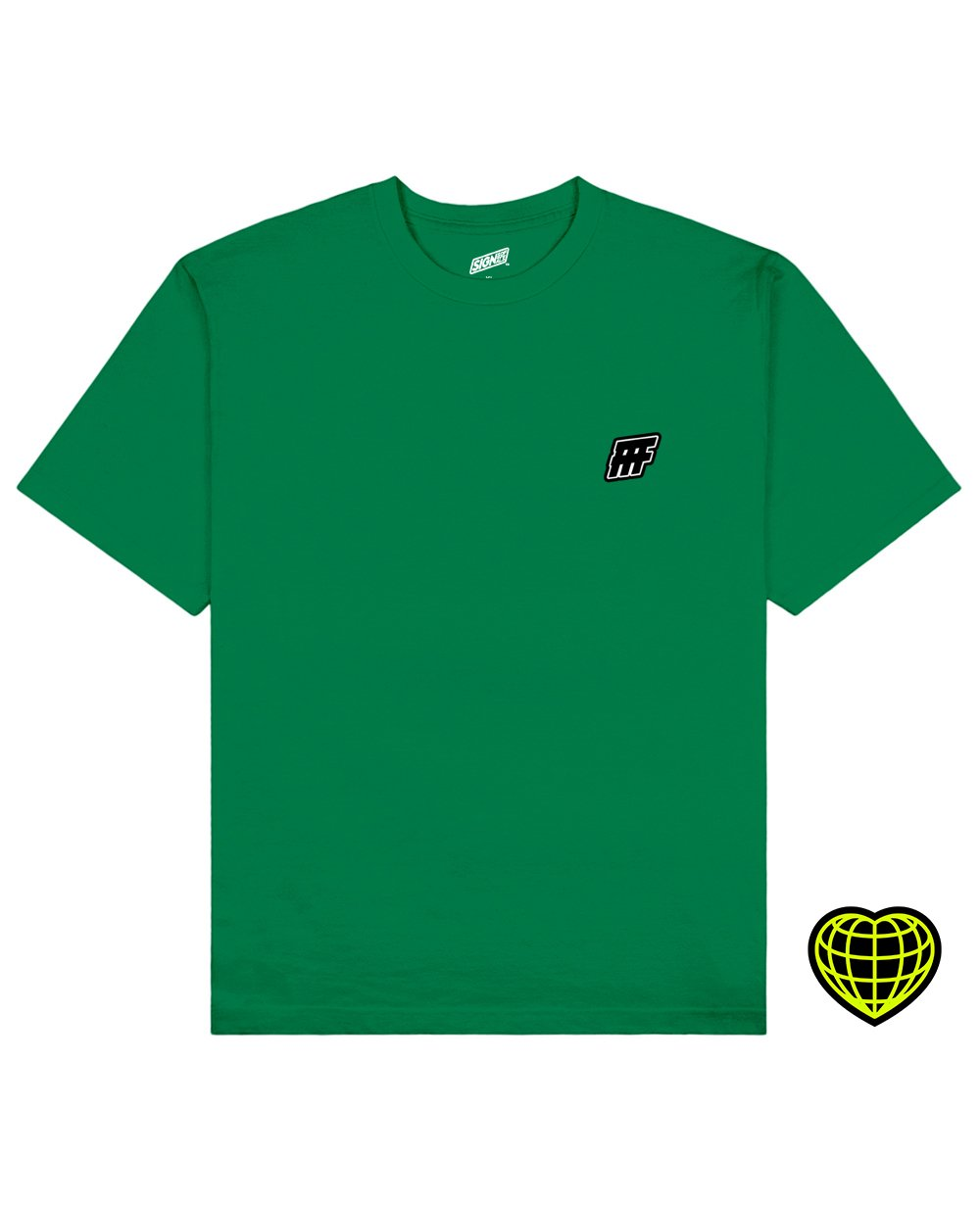 FFF Print T-shirt in Green - T-Shirts - Signs of Signals - BRANMA