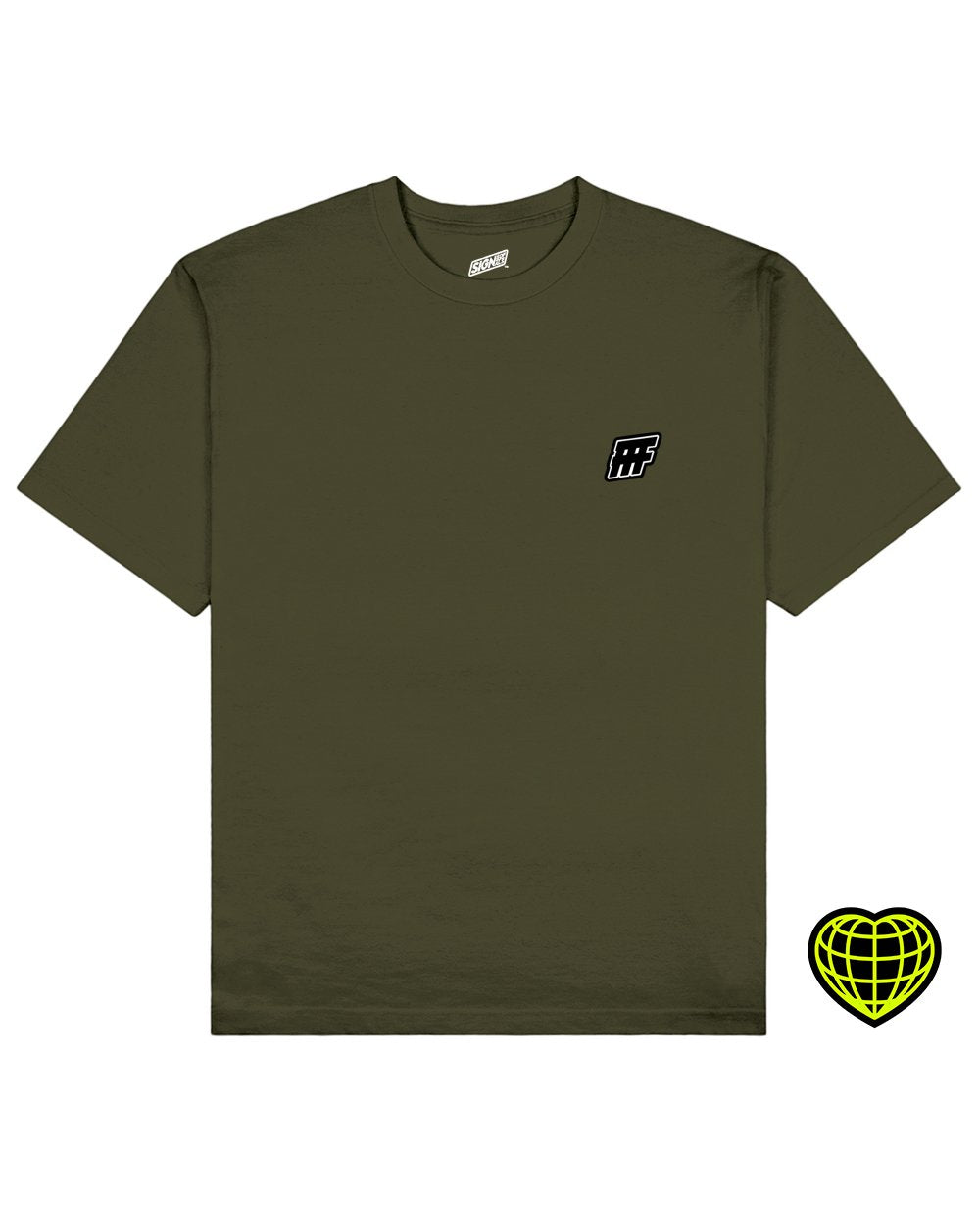 FFF Print T-shirt in Khaki - T-Shirts - Signs of Signals - BRANMA