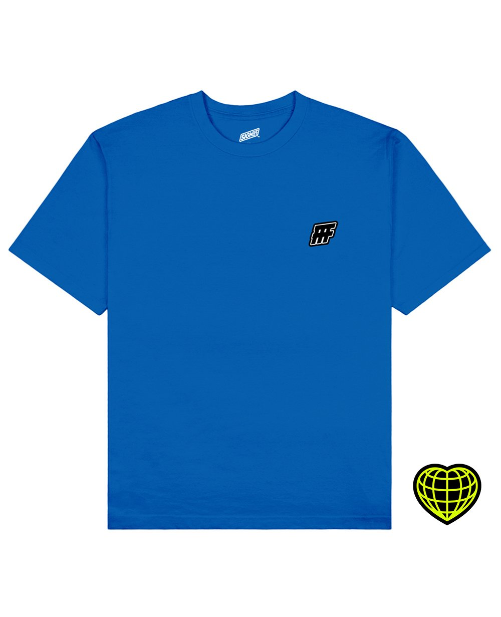 FFF Print T-shirt in Blue - T-Shirts - Signs of Signals - BRANMA