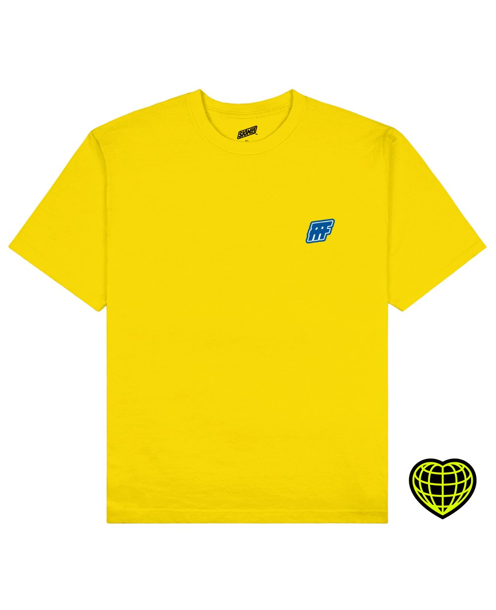 FFF Print T-shirt in Yellow - T-Shirts - Signs of Signals - BRANMA