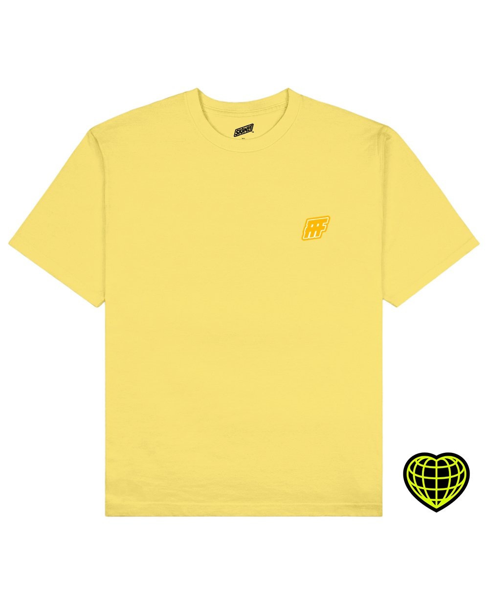 FFF Print T-shirt in Light Yellow - T-Shirts - Signs of Signals - BRANMA