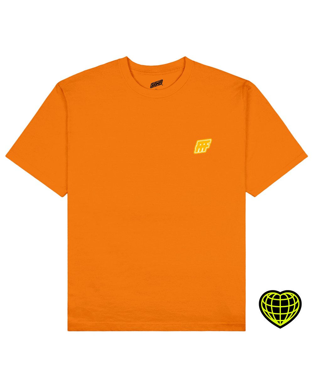 FFF Print T-shirt in Orange - T-Shirts - Signs of Signals - BRANMA