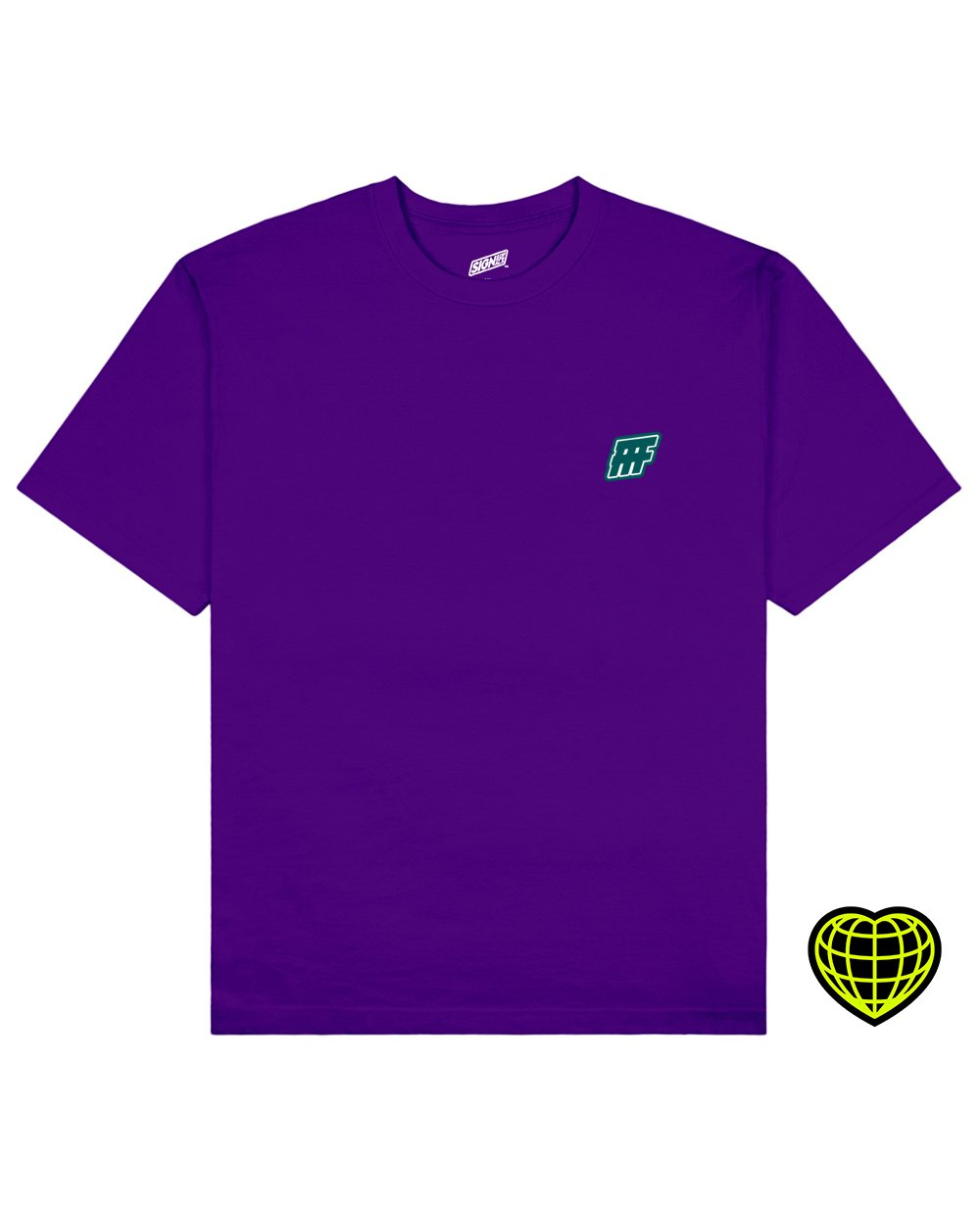 FFF Print T-shirt in Purple - T-Shirts - Signs of Signals - BRANMA
