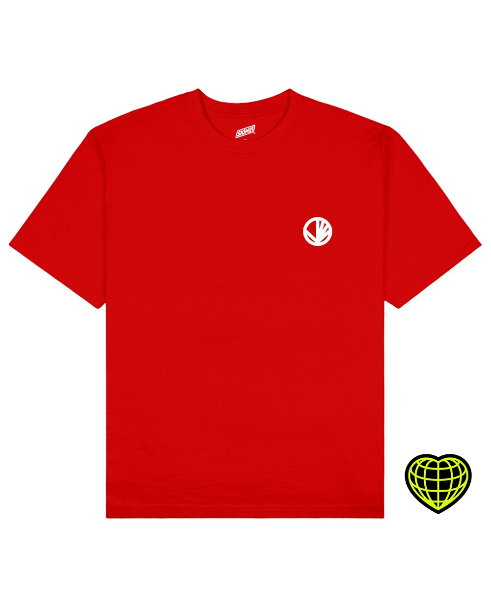 Circle with beams Print T-shirt in Red - T-Shirts - Signs of Signals - BRANMA