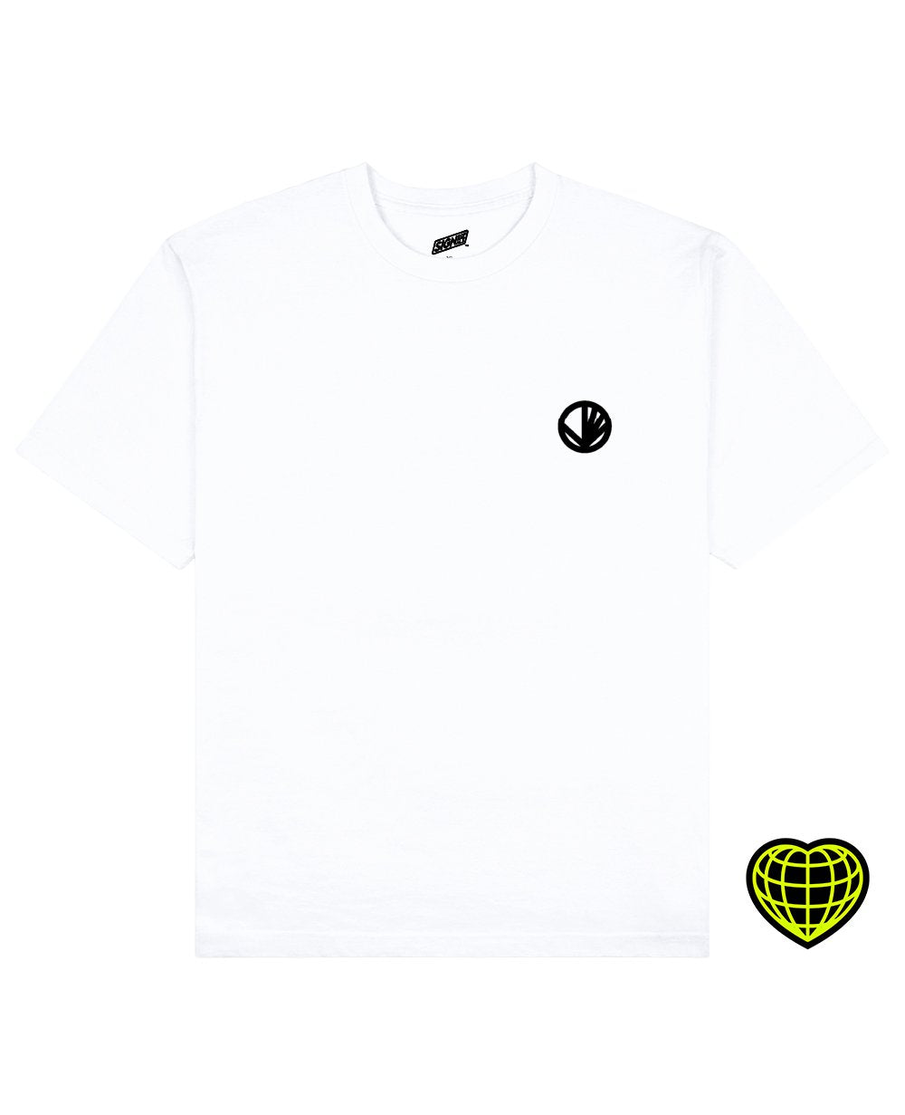 Circle with beams Print T-shirt in White - T-Shirts - Signs of Signals - BRANMA