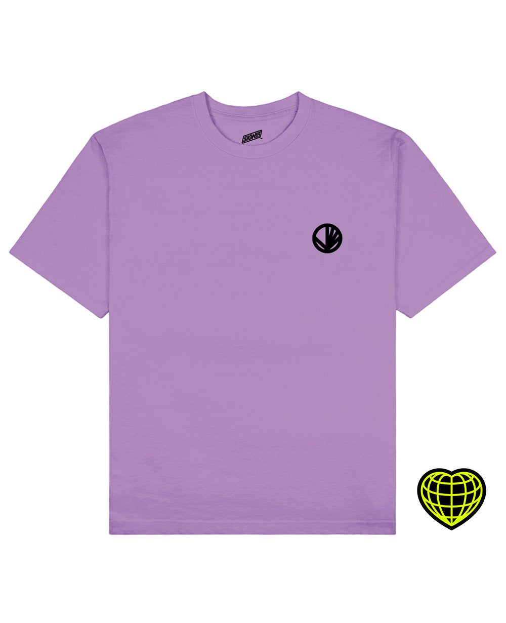 Circle with beams Print T-shirt in Light Purple - T-Shirts - Signs of Signals - BRANMA