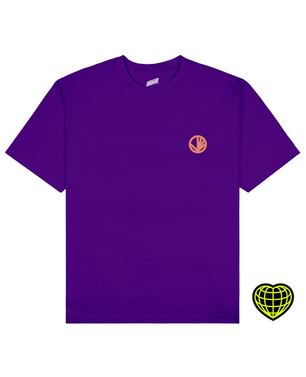 Circle with beams Print T-shirt in Purple - T-Shirts - Signs of Signals - BRANMA