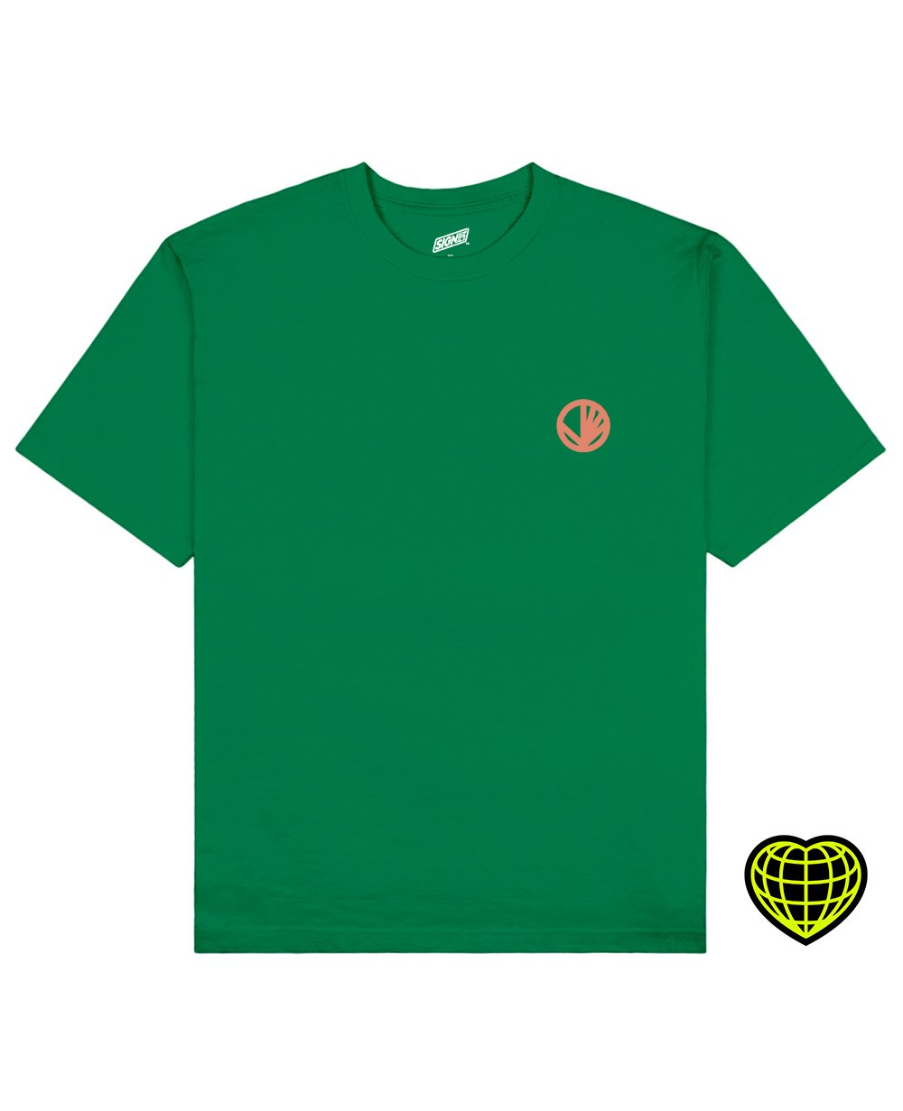 Circle with beams Print T-shirt in Green - T-Shirts - Signs of Signals - BRANMA