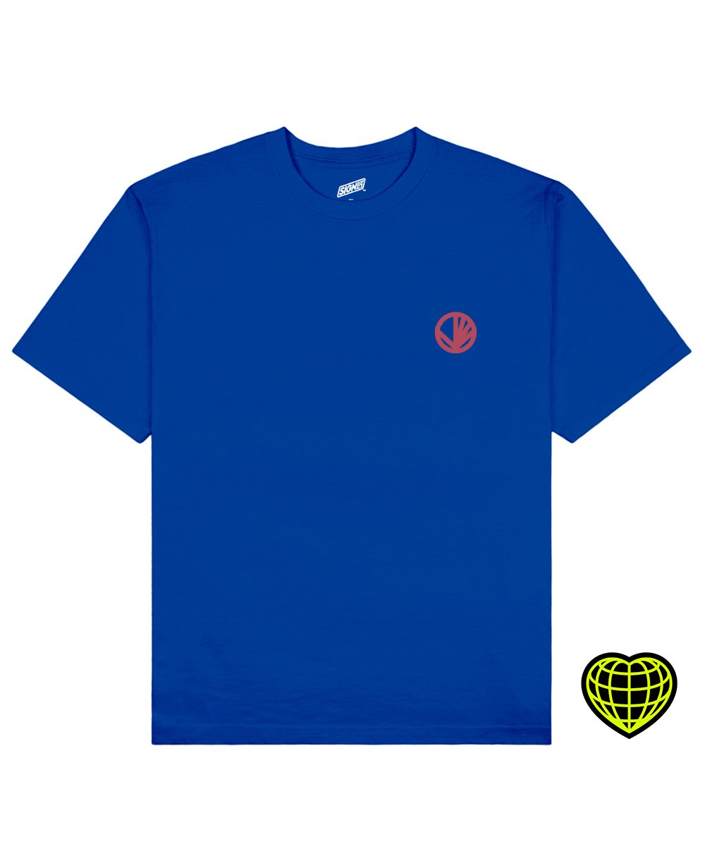 Circle with beams Print T-shirt in Blue - T-Shirts - Signs of Signals - BRANMA