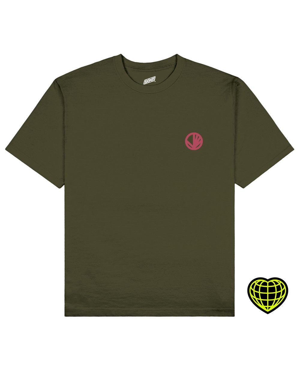 Circle with beams Print T-shirt in Khaki - T-Shirts - Signs of Signals - BRANMA