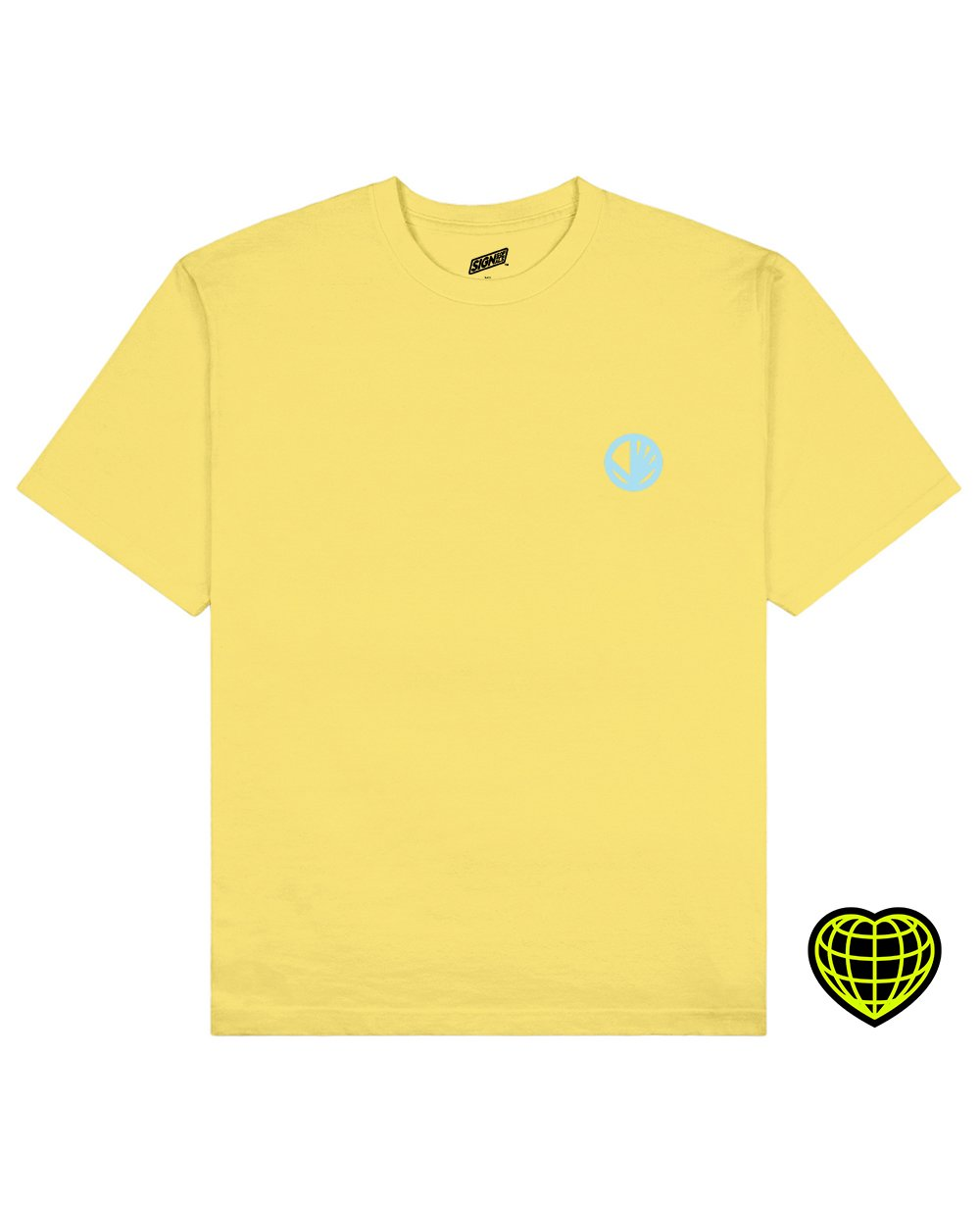 Circle with beams Print T-shirt in Light Yellow - T-shirts - Signs of Signals - BRANMA