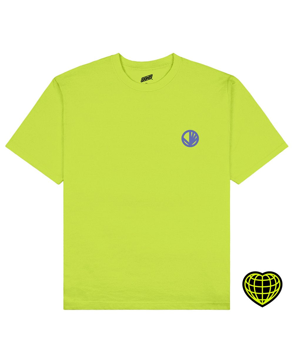 Circle with beams Print T-shirt in Light Green - T-shirts - Signs of Signals - BRANMA