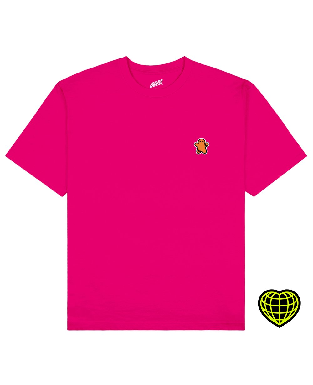 The Biscuit man Print T-shirt in Fresh Pink - T-Shirts - Signs of Signals - BRANMA