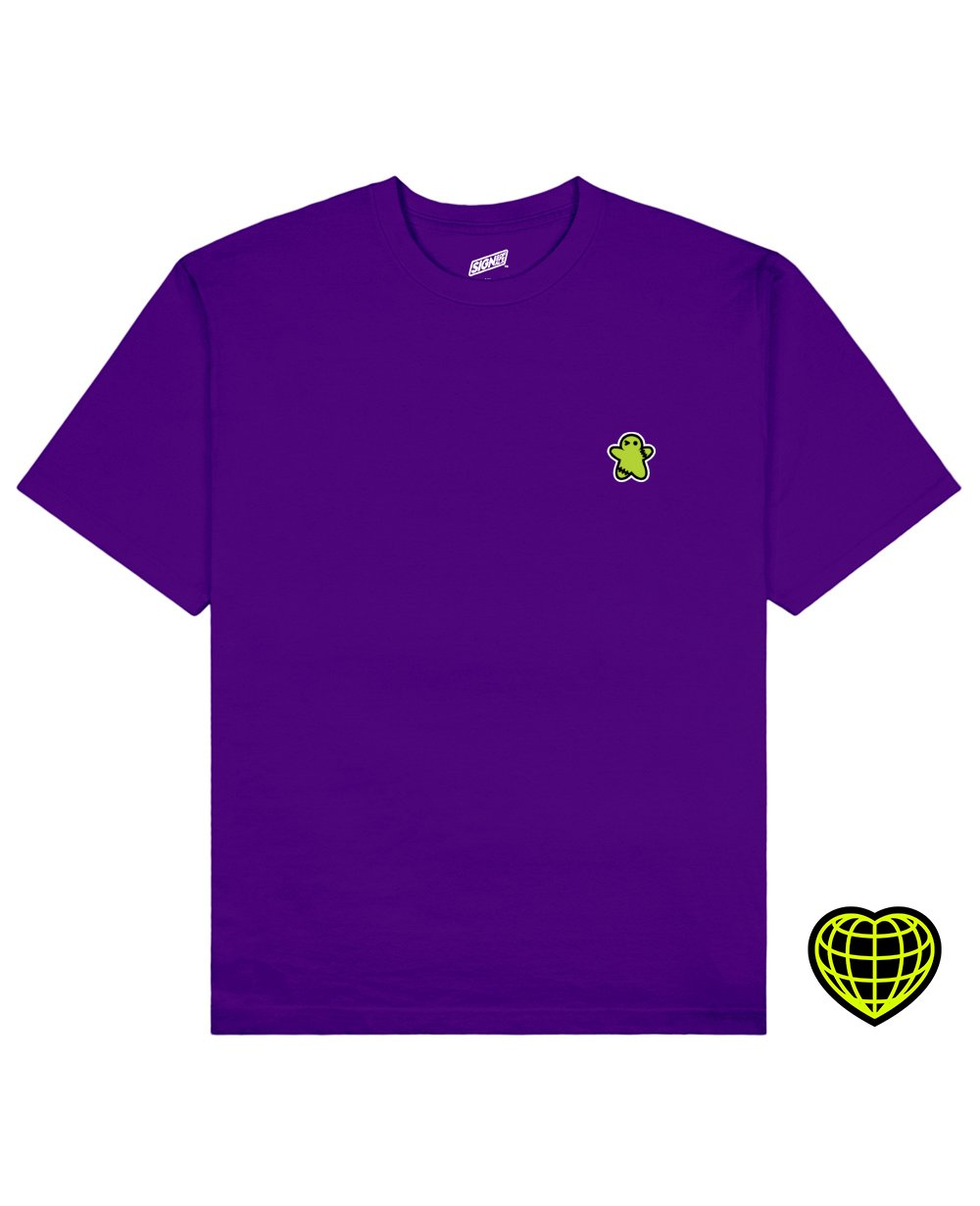 The Biscuit man Print T-shirt in Purple - T-Shirts - Signs of Signals - BRANMA