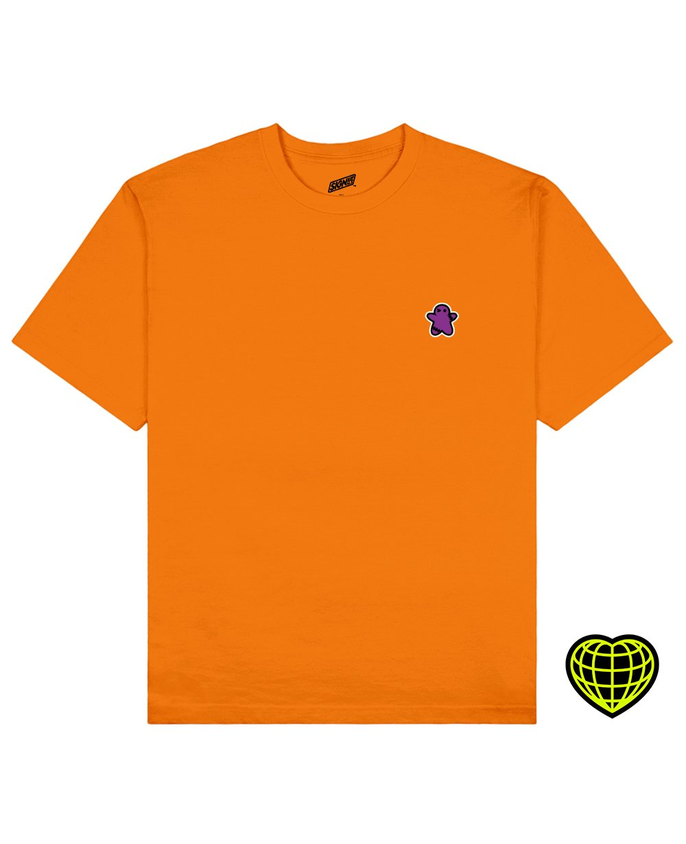 The Biscuit man Print T-shirt in Orange - T-Shirts - Signs of Signals - BRANMA