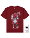 SKINLESS TIGER Printed T-Shirt in Red - T-Shirts - Milk DoNg Comics - BRANMA