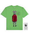 ANTLERLESS DEER Printed T-Shirt in Green - T-Shirts - Milk DoNg Comics - BRANMA