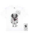 TUSKLESS ELEPHANT Printed T-Shirt in White - T-Shirts - Milk DoNg Comics - BRANMA
