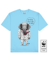 TUSKLESS ELEPHANT Printed T-Shirt in Light Blue