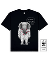 TUSKLESS ELEPHANT Printed T-Shirt in Black