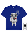 TUSKLESS ELEPHANT Printed T-Shirt in Blue