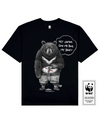 BILELESS BEAR Printed T-Shirt in Black - T-Shirts - Milk DoNg Comics - BRANMA