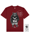 BILELESS BEAR Printed T-Shirt in Red - T-Shirts - Milk DoNg Comics - BRANMA