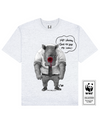 HORNLESS RHINO Printed T-Shirt in Light Gray - T-Shirts - Milk DoNg Comics - BRANMA