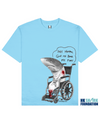 FINLESS SHARK Printed T-Shirt in Light Blue - T-Shirts - Milk DoNg Comics - BRANMA