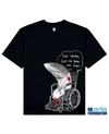 FINLESS SHARK Printed T-Shirt in Black - T-Shirts - Milk DoNg Comics - BRANMA