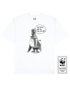 FATTYLIVER GOOSE Printed T-Shirt in White - T-Shirts - Milk DoNg Comics - BRANMA