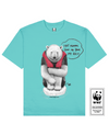 FLOATING PALOR Printed T-Shirt in Aqua - T-Shirts - Milk DoNg Comics - BRANMA