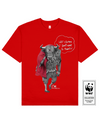 FIGHTING BULL Printed T-Shirt in Red - T-Shirts - Milk DoNg Comics - BRANMA