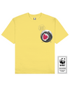 CAPSULE TURTLE Printed T-Shirt in Light Yellow - T-Shirts - Milk DoNg Comics - BRANMA