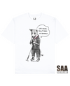 STRAY DOG Printed T-Shirt in White - T-Shirts - Milk DoNg Comics - BRANMA