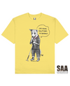 STRAY DOG Printed T-Shirt in Light Yellow - T-Shirts - Milk DoNg Comics - BRANMA